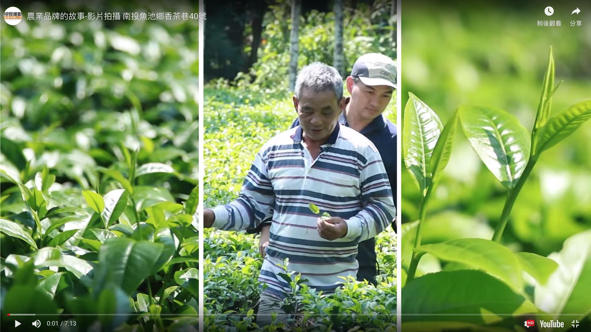 農業品牌的故事-影片拍攝 南投魚池鄉香茶巷40號